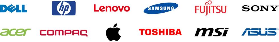 Serwisujemy między innymi: DELL, HP, lenovo, SAMSUNG, FUJITSU, SONY